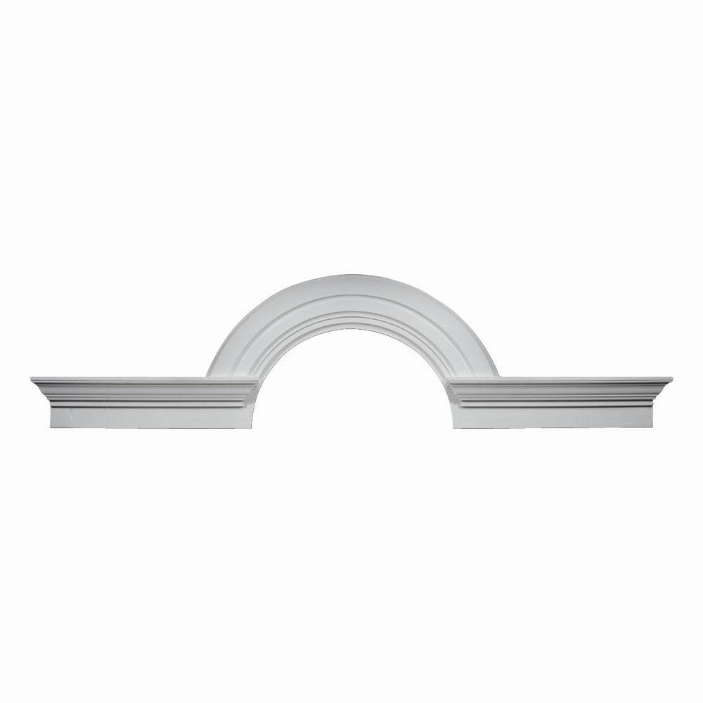 Arched Crown Moulding Arch Fypon 10 Decorative W Flankers 36 Id X 28 H X 108