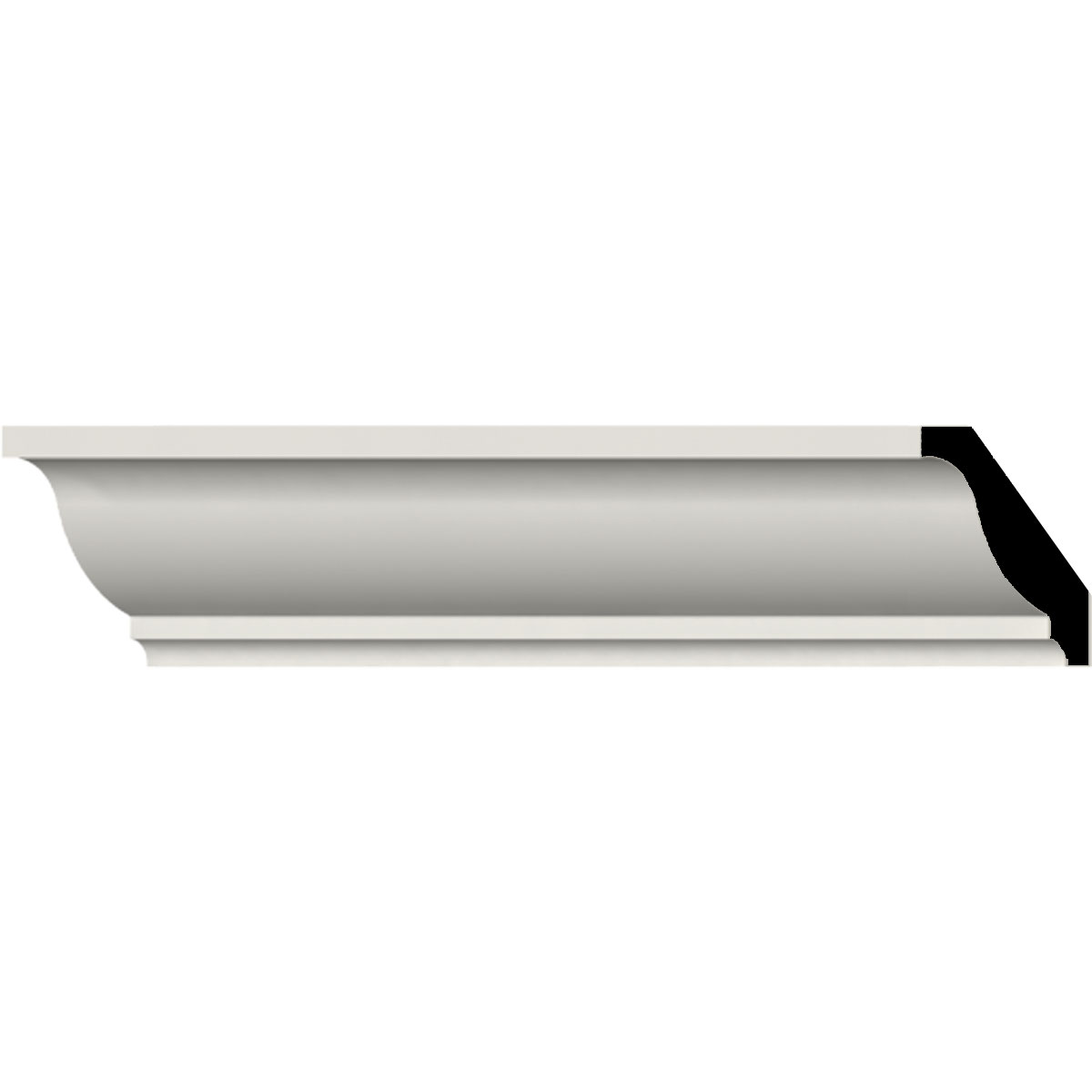 26 Off Mld01x01x02od Odessa Traditional Smooth Crown Molding Ekena Millwork