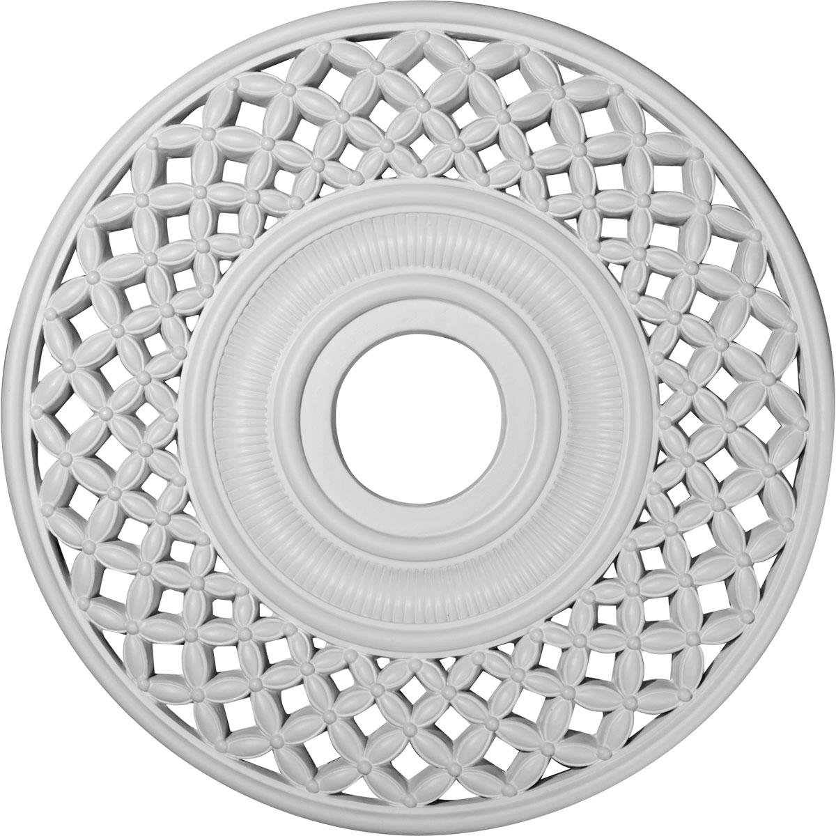 medallions piece dp invitinghome california amazon split com ceiling medallion primed decorative white