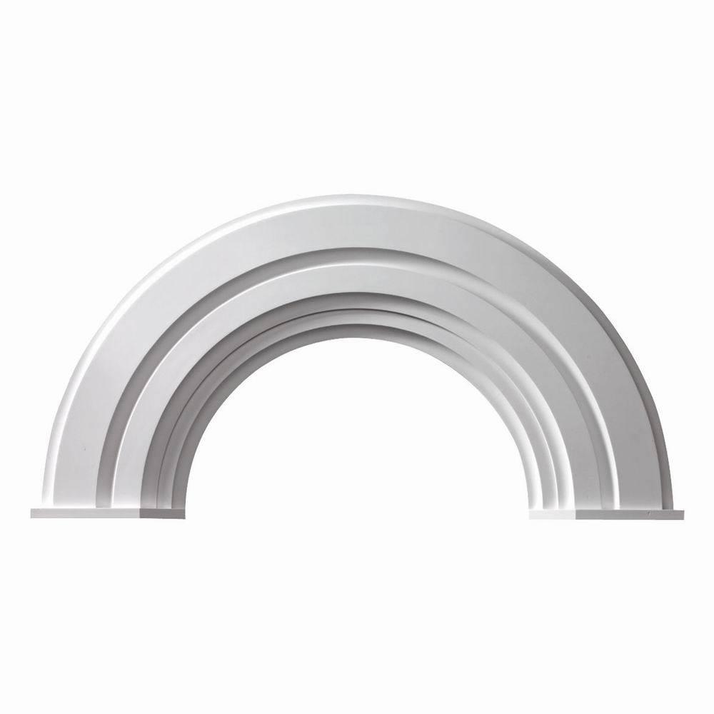 Half Round Arch Trim Fypon 10 Decorative W End Caps