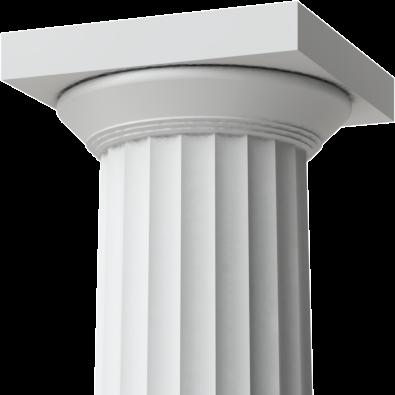 RoyalCast Greek Doric Fiberglass Columns   USA Made   Crown-Molding